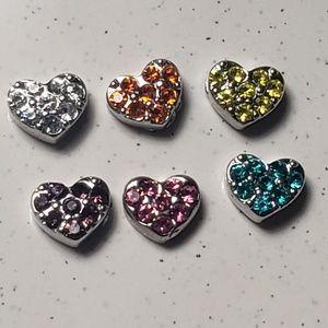 Origami Owl Crystal Heart charms